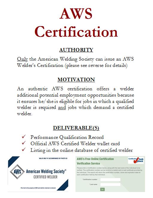 Integrity Welding Llc Welding Certification Versus